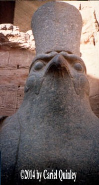 Falcon-headed Horus - at Edfu