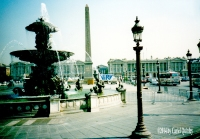 Obelisk-and-fountain-in-place-de-la-concorde - Paris